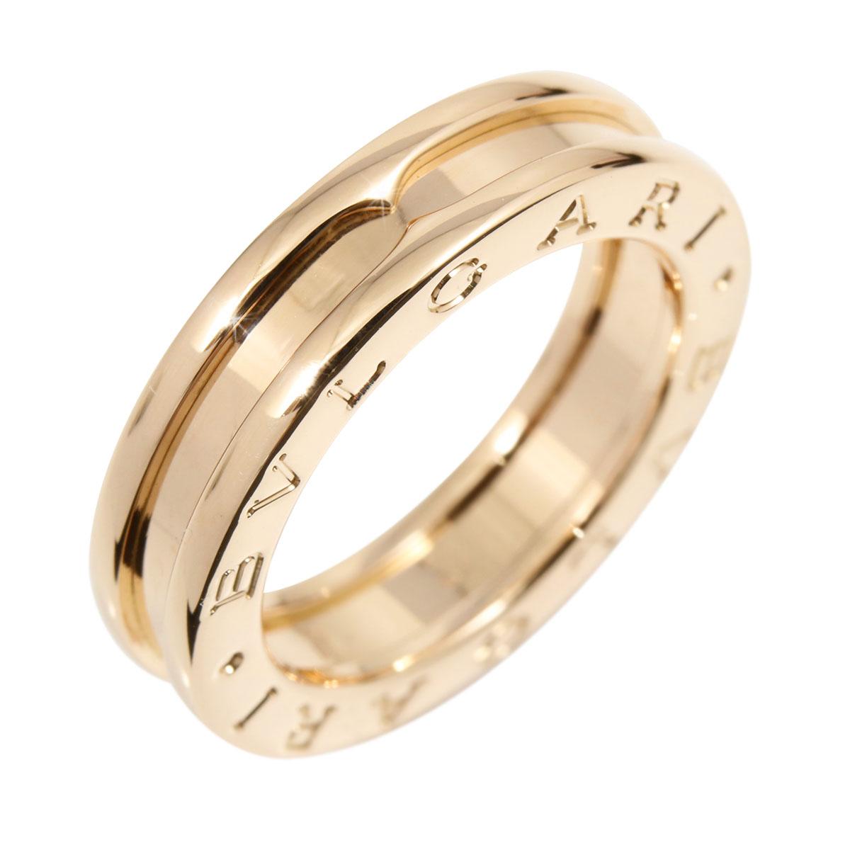 18e9ba95759 Details about Auth BVLGARI 18K Rose Gold B-Zero 1 XS Band Ring US5.5 EU50  A1653